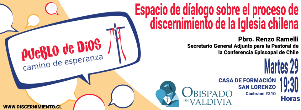 2019-10-16-Segundo-Espacio-de-Dialogo-sobre-el-Proceso-de-discenrimiento-Pueblo-de-Dios-Camino-de-Esperanza-Banner