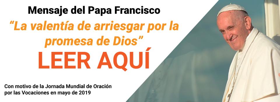 Banner-Papa-Francisco-Mensaje-Jornada-Mundial-de-ORación-pos-las-Vocaciones-2019